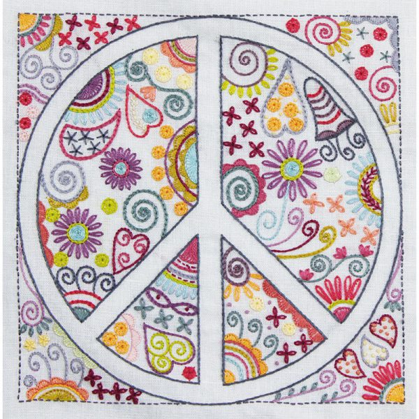 Stickpaket - Un chat dans l'aiguille - Collection Zen Peace & Love No 6 - Stickmuster