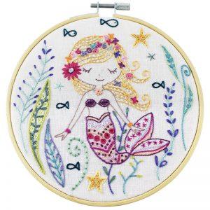 Stickpaket - Un chat dans l'aiguille - Marjolaine die kleine Meerjungfrau