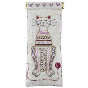 Stickpaket - Un chat dans l'aiguille - 921 Brillenetui Katze