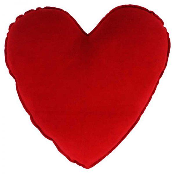 Farbenfreunde - Kissenhülle Herz - 070 Tomate