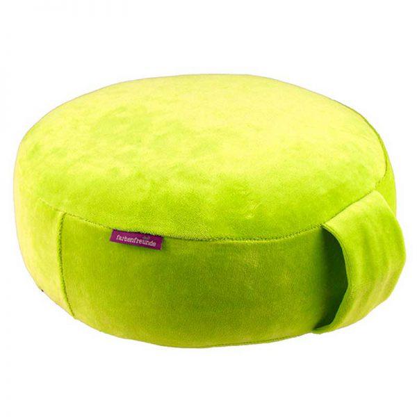 Farbenfreunde - Kissenhülle Yoga - 239 Lemon Green
